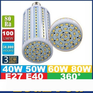 E40 B22 E27 Led Corn Lights SMD 5730 High Power 40W 50W 60W 80W Led Light Bulbs 360 Angle AC 85-265V ce ul