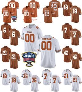 Costumbre de Texas Longhorns College Football Jersey 10 Vince hombre joven personalizada Cualquier Número Nombre cosió jerseys parche azucarero