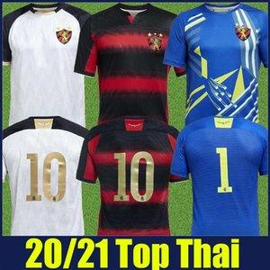 2020 2021 브라질 스포츠 클럽 레시 페 Goleiro 20/21 camisa 레시 페 축구 유니폼 레드 블랙 스트라이프 셔츠의 헤르 난 샌더 축구 셔츠를 할