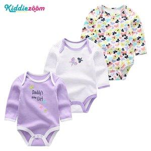 Jumpsuits 태어난 아기 옷 Nightwear Kid Girlboy Rompers 어린이를위한 드레스 0-12M 코튼 루바 드 Bebes 잠옷 3piece / 의류 설정