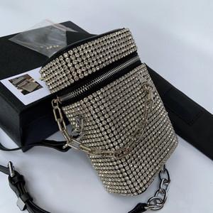 dîner diamant personnalisé boîte brillant petit sac 2020 nouvelle marée sac en filet d'épaule rouge polyvalent sac de messager des femmes