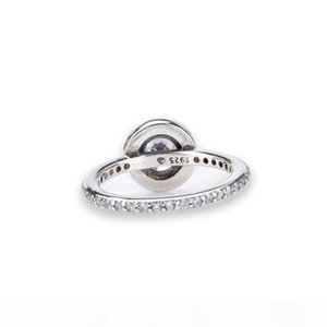D D 100 Real 925 Silver Womens Wedding Ring With Original Box For Pandora Style Cz Diamond Ring For Women Valentine &#039 ;S Day Gift