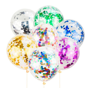 50pcs 12 inch Confetti Balloons Gold Silver Happy Birthday Party Inflatable Helium Latex Balloon for Wedding Birthday Party Decorations