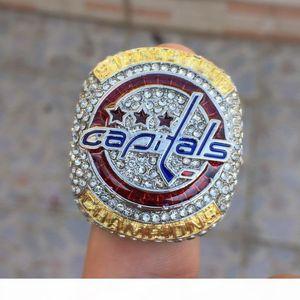 R 2018nhl Eishockey Washington Capitalist Fans Meister-Ring-New Spot in voller Größe [Hohe Qualität] Male Ring