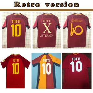 2000 2001 2002 camisa de futebol RETRO roma camisa 00 01 02 TOTTI Batistuta Candela Montella 17 18 roma 2017 2018 Maglia da calcio