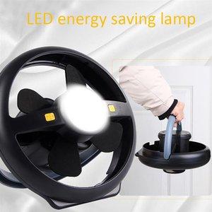 2 en 1 Lanterne Camping LED Portable Lumière avec ventilateur au plafond Tente Lumière pour l'extérieur Randonnée Pêche Tente Camping Urgences