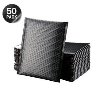 Kabarcık Posta Çantası Kargo ile 50 ADET / Lot Siyah Köpük Zarf Çanta Öz Mühür Postaları yastıklı Kargo Zarflar Bag Paketleri