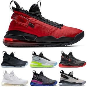 JORDAN PROTO-MAX 720 jumpman Gimnasio neón rojo degradado Pure Platinum púrpura y oro real y zapatillas de deporte negras del tamaño 40-46