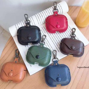 Fashion earphone shell suitable for airpods pro case leather stereotyped airpods1   2 3 generation case wireless Bluetooth headset cover-11