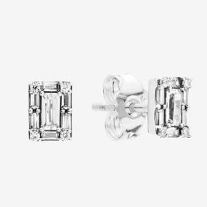 NOUVEAU Sparkling place Halo Boucles d'oreilles Femmes Bijoux Fashion avec la boîte originale pour Pandora Argent 925 CZ OREILLE diamant