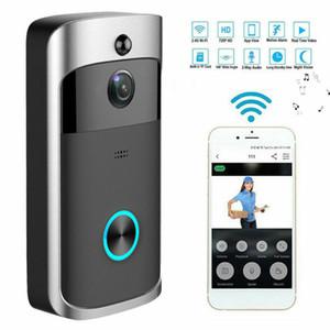 Wireless WiFi Door Bell IR Visual Camera Video Visual Ring Security System Kit