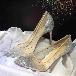 Mariage Marry Robe Chaussures Haute Talons Red Bas Pompes Follies Strass De Depastrace importé Mah Soirée Soirée de soirée avec boîte