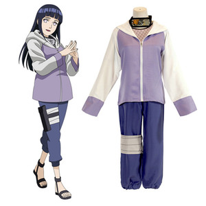 NARUTO Hyuuga Hinata Cosplay Light Purple Costume Halloween Costume