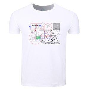 수학 공식 식 수식 남성 재미 프린트 T 셔츠 O-목 여름 짧은 소매 캐주얼 긱 티셔츠