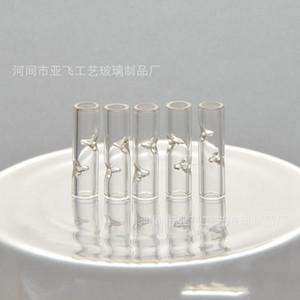 Moda vidro do filtro Dicas Transparente Belas piteira Water Pipe Fittings 8mm fumadores resistência de alta temperatura 1 2YF D2