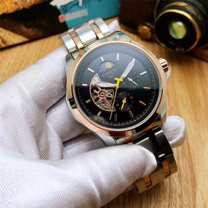 Top quality Brand Automatic Mechanical Watch Stainless Steel Mens Business Casual Calibre Fashion Watches RelojCarrera Wristwatches