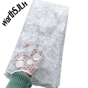 White African French Lace Fabric Swiss Lace Fabrics Latest Nigerian Laces Fabric 2020 High Quality Lace Material For Sewing