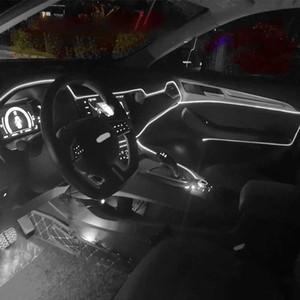 Flexible Auto-Atmosphäre Lampen APP Sound Control RGB-Modus Bunter Auto-Innenraum-Ambient-Licht-dekorative Lampen-Streifen 2m / 4m / 6m