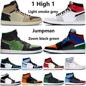 Yeni 1 yüksek OG 1 s erkek basketbol ayakkabı korkusuz UNC inanılmaz Hulk çam yeşil siyah çok renkli üst 3 erkek kadın tasarımcı eğitmenler