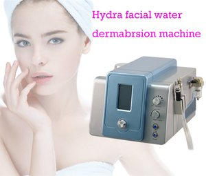 Tela de toque 2 em 1 diamante Microdermoabrasão Hydra dermoabrasão Hidro rosto oxigênio Water Jet Peel máquina Facial com garrafa Quatro Limpeza