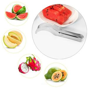 Edelstahl-Cutter-Messer Watermelon Watermelon Cut Slicer Kitchen Tools Obst Cantaloupe Segmentation Schneide Slicer Messer BH3939 TQQ