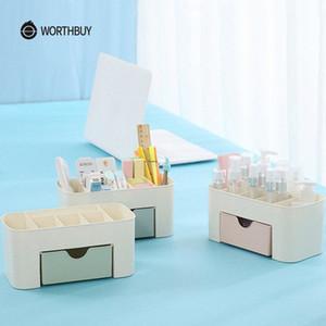 WORTHBUY multifunzionale trucco dell'organizzatore scatola di plastica trucco Scrivania organizzatore per Cosmetici Box Bagno contenitore di immagazzinaggio tUYG #