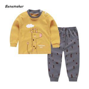 Benemaker Sets For Babie Children's Tracksuits Clothes Girls Boys Newborn 2 Pcs Long Johns Sets Kids Suits Toddler Pants AY041