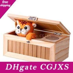 나무 전자 쓸모없는 상자 귀여운 호랑이 재미 장난감 보이 선물 및 어린이 대화 형 장난감 스트레스 감소 데스크 장식