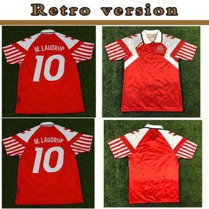 1992 Dinamarca casero retro 1.992 euros danesa hogar final clásica camiseta Lauder Povlsen 92 Dinamarca hombres retros camiseta de fútbol M. Laudrup 10RETRO 19
