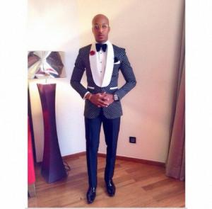 Hombres del homme de disfraces de trajes del partido de cena baile maillot homme novio Traje para los trajes de los hombres de los padrinos de boda Blazer (chaqueta + pantalones + lazo) yI1Q #