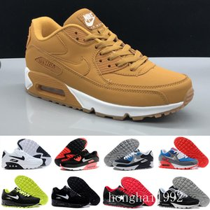 High Quality 2019 Air Cushion 90 Casual Running Shoes Cheap Black White Red 90 Men Women Sneakers Classic Air90 Trainer Outdoor RT7NH