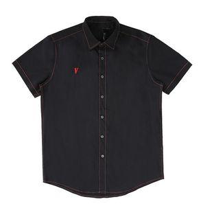 Tide brand V and LONE basic large V short sleeve shirt jacket men and women couple shirt brand new