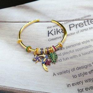 Multi-Pendant Fun Toucan Silver Jewelry bracelet For Women s925 silver Girl Gold Bracelet Jewelry 2020 new design