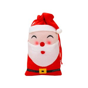 1PC Christmas Gift Storage Cloth Bag Drawstring Candy Toy Pouches Home Xmas Decoration Gift Bag