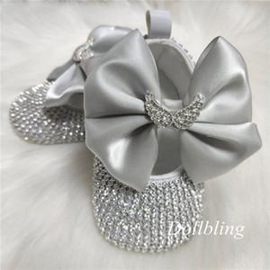Dollbling Кристалл Wing Silver Крестины Baby Girl Botties Первое причастие Балерина Bithday Family Фотография Infant платье обувь nSQ1 #