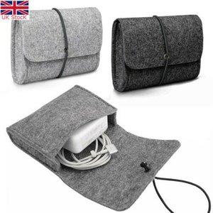 Sac manches en feutre poche pour le chargeur / souris Adaptateur cas Sac souple de stockage pour Mac MacBook Air Pro Retina