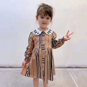 2020 Herbst Mädchen kleiden Art und Weise lange Hülsenkind Mädchen Boutique Kinderkleidung