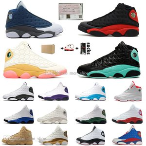 2020 Novas 13 13S Flints Bred Shoes CNY basquete Parque Chicago Capitão América Ilha Green Court Lakers roxo Mens Sports Sneakers