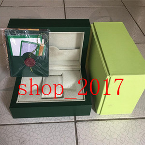 XX NEW Luxury Dark Green Watch Box Gift Case For Rolex Watches Booklet Card Tags And Papers In English Swiss Watches Boxes520