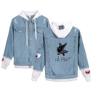 Lil Peep jeans hoodies Young People Autumn New Fashion Lil Peep Denim Jean wear men women Popular Stitching Jacket casual tops