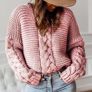 Shujin Donna Solid o collo maglioni pullover a maglia Autunno Inverno Abbigliamento ponticello del pullover Pull Femme Hiver Truien Dames