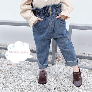 Bud usura ragazze e ragazzi dei jeans abbigliamento casual Jeans pantaloni del bambino alla moda dei bambini di autunno