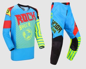 Nefes Motosiklet Yarışları Giyim Motosiklet pantolon takım elbise nefes off-road karşıtı sonbahar elbise 3 renk yarış takım elbise off-road kıyafet sürme