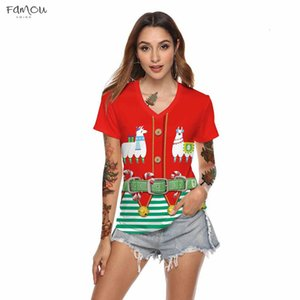 Christmas Shirt Women Casual Pattern Printing Short Sleeves Shirt Tees Female Christmas Party Clothes Female T Shirt Red S 2Xl