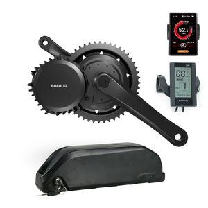 Bafang BBS02B 48V500W entraînement mi moteur Moteur vélo électrique vélo Kit avec batterie 48V / 52V 13Ah / 16Ah / 17.5AH Ebike