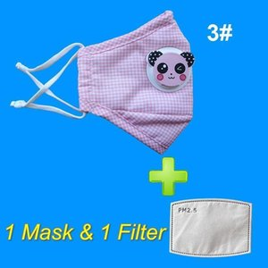 Cotton Child 1Day Children Kids Shipping Face Mask With Cartoon Animal Respirator Breathing Valve Protect