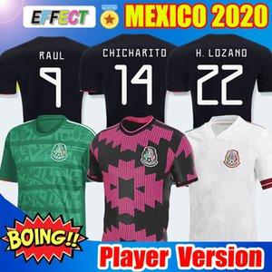 Versão do jogador 2020 México Mexico Camisa de Futebol Nacional Novo Fora Branco 19 20 Preto CHICHARITO LOZANO GUARDADO CARLOS VELA RAUL 2019 Camisas de futebol Soccer Jersey