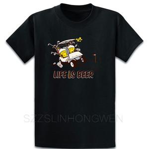 Golf camiseta del algodón del tamaño que construye en el tamaño S-5XL Carácter camisa famoso manantial Unique Slim
