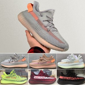 2019s V2 Kanye West s Triple white Bred Butter Teach Red Men Women Green-Core Zebra Sports SPLY- Training Sneakers S1W8F