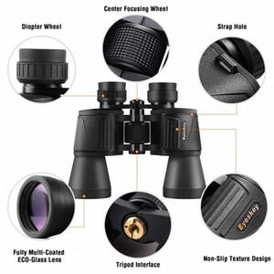 Eyeskey Hd 10X50 Powerful Zoom Binoculars Telescope For Hunting Professional High Quality Bird Watching Traveling High Power Ehgf#